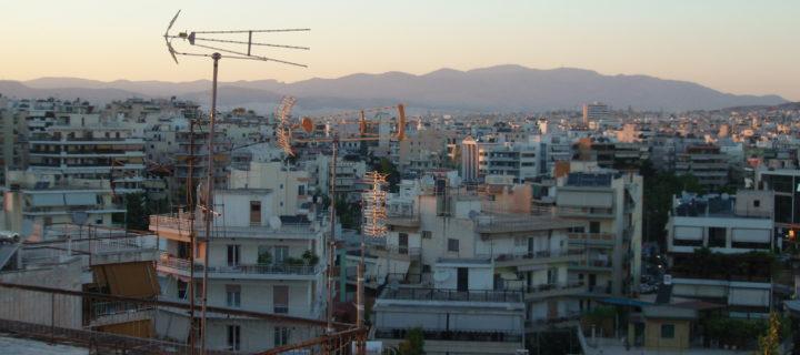 πράσινοι παπαγάλοι στην Αθήνα